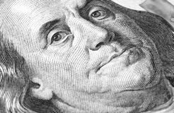 100 долларов США крупного плана макроса Стоковые Изображения RF