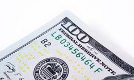 100 долларов США крупного плана макроса Стоковые Изображения