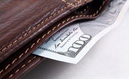 100 долларов США крупного плана макроса Стоковое Изображение