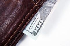 100 долларов США крупного плана макроса Стоковое Фото