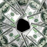 100 долларов США поворачивают вокруг Стоковые Фото