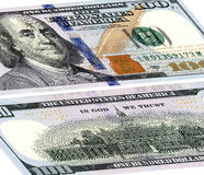100 долларов США Фронт и обратная сторона Стоковое фото RF
