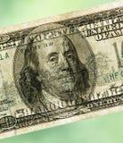 100 долларов текстуры предпосылки Стоковая Фотография