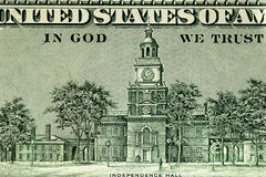 100 долларов, часть Стоковые Фото