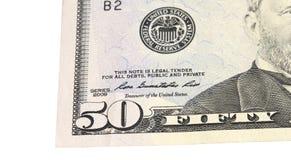 50 долларов Стоковые Фото