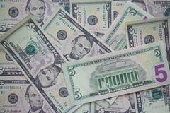 5 долларов Стоковые Изображения RF
