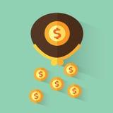 доллары бумажника Стоковые Изображения RF