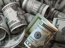доллары дела 3d много возражают Стоковая Фотография