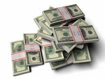 доллары кучи Стоковая Фотография