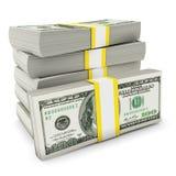 доллары кучи Стоковые Фотографии RF