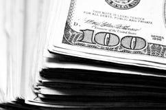 доллары наличных дег 100 одних Стоковое Изображение