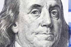 доллары 100 одних Портрет Бенджамина Франклина USD, объединенное Стоковая Фотография RF