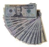 доллары предпосылки белые Стоковые Изображения RF