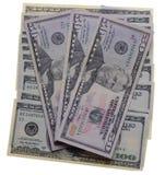 доллары предпосылки белые Стоковая Фотография RF