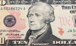 доллары предпосылки белые Стоковые Фотографии RF