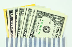 доллары предпосылки изолировали нас белые Стоковое фото RF