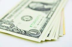 доллары предпосылки изолировали нас белые Стоковые Изображения