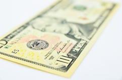 доллары предпосылки изолировали нас белые Стоковое Изображение