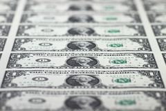 доллары предпосылки изолировали нас белые Стоковое Фото