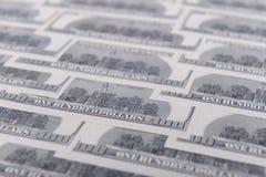 доллары предпосылки 100 одних Стоковые Изображения RF