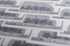 доллары предпосылки 100 одних Стоковые Фотографии RF
