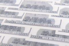 доллары предпосылки 100 одних Стоковая Фотография RF