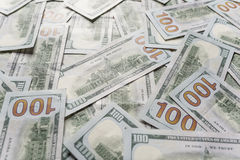 доллары предпосылки 100 одних Стоковая Фотография