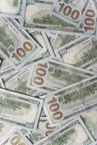 доллары предпосылки 100 одних Стоковые Фото