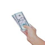 доллары руки Стоковая Фотография