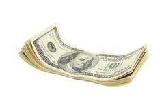 доллары 100 счета Стоковое Изображение