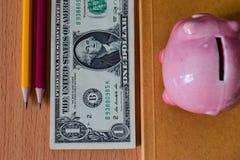 доллары таблицы u s Стоковое Изображение RF