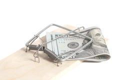 доллары 100 mousetrap Стоковая Фотография RF