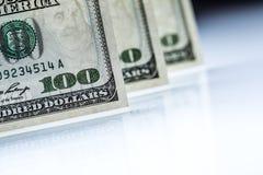 доллары s u кредиток Американские доллары денег наличных денег доллар 100 одно кредиток Стоковые Фотографии RF