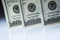 доллары s u кредиток Американские доллары денег наличных денег доллар 100 одно кредиток Стоковая Фотография RF