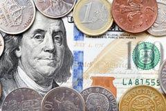 100 доллар и монеток Стоковое Изображение RF