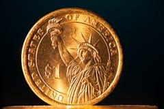 доллар монетки золотистый Стоковое Фото
