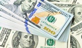 доллар 100 один стог Стоковые Фото