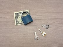 доллар одно детали кредитки Стоковое фото RF