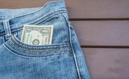 доллар одно детали кредитки Стоковое Фото