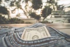 доллар одно детали кредитки Стоковые Фото