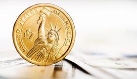 доллар одно монетки мы Стоковые Фото