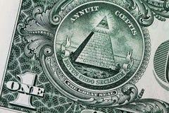 доллар одно счета стоковые изображения