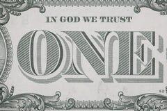 доллар одно Стоковые Изображения