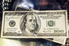 100-доллар представляет счет крупный план Стоковые Изображения