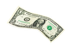 доллар счета изолировал одно Стоковая Фотография RF