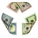 доллар счета рециркулирует знак Стоковые Фото
