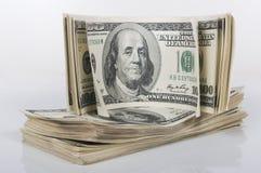 доллар счетов 100 стогов Стоковые Изображения