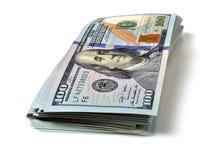 доллар счетов 100 стогов Стоковое Фото