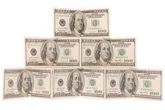 доллар сделал пирамидку Стоковая Фотография