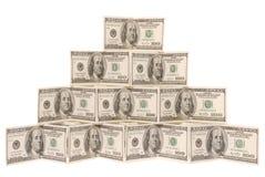 доллар сделал пирамидку Стоковое Изображение RF